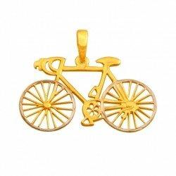 Złota zawieszka rower kolarka