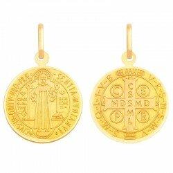 Złoty medalik św. Benedykt