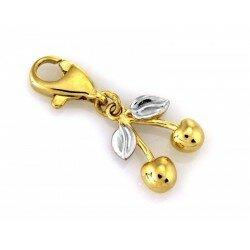 Złoty charms wisienka
