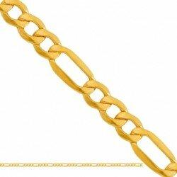 Złoty męski łańcuszek figaro