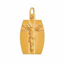 Złoty medalik krzyż