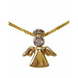 Złoty komplet Aniołek + łańcuszek