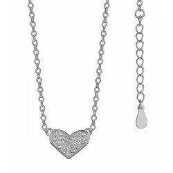 Naszyjnik Celebrytka srebrne serce z cyrkoniami