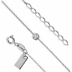 Celebrytka srebrna bransoletka kółko z cyrkonią